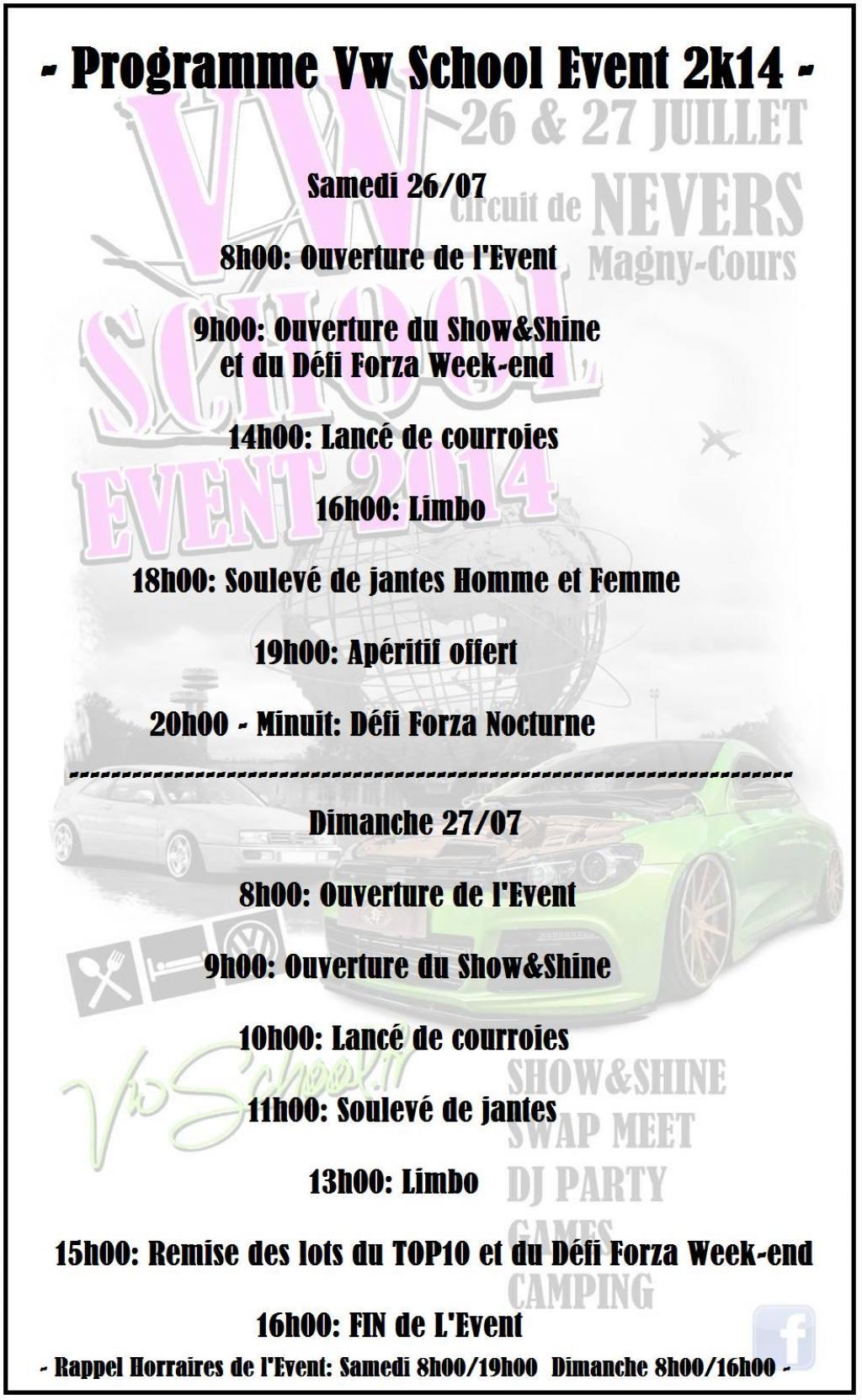 -- Vw SCHOOL EVENT 2014 - 26& 27 juillet -- Programme-event-458aff3